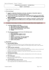 OPERATIONS MANGEMENT 1 - Chapter 9 - Handout 1(2)