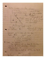 Section 10.5 Notes MATH 283 R