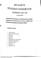 Business Law Student Handbook