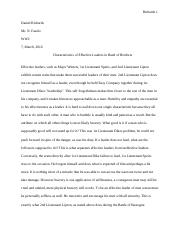 WW2 Leadership essay