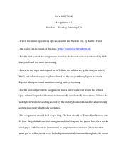 Core 100 (7634) Essay Assignment