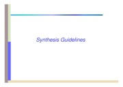 04_Synthesis_guidelines