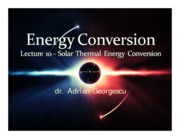 Lecture 10 - Solar thermal energy