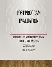 CJA 355 Team PPT Post Program Evaluation