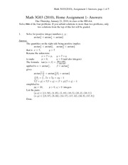MATH 3G03 Spring 2010 Assignment 1 Solutions
