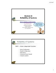 Module III _Reliability of Systems.pdf