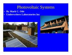 October 2010 Photovoltaic Systems I Article 690 (NXPowerLite)