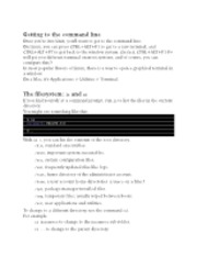 Command Line Unix notes