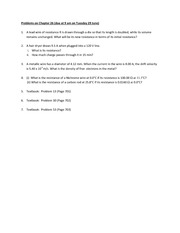 Solutions to Problem set on Chapter 26