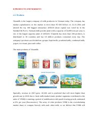 PRODUCTS AND MARKETS VINAMILK.docx