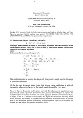 ECON 320 2004 Winter Midterm Solutions