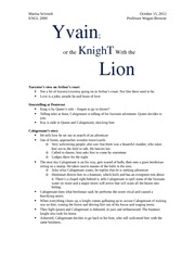 Yvain, or the knight with the lion part 1