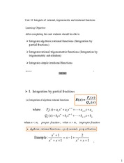 Unit 10 Integrals of rational and irational functions.pdf