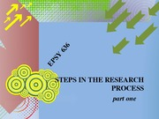 EPSY 636 Steps in the Research Process, Pt. 1