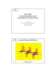 OPTI 380A Lab 6 - Waveplates and Stokes Vectors - Presentation Slides-5