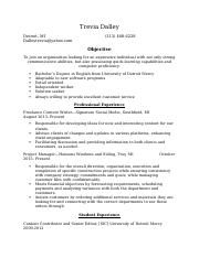 Chrysler Resume