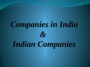 2. Companies in India & Indian Companies