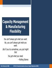 W14 Capacity Management and Mfg Flexibility
