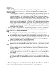 Journal 2/7/14: how legislators reconcile the dual responsibilities of delegate/trustee as well as