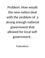 problem and definition of federalism