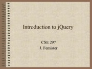 10 - Introduction to JQuery