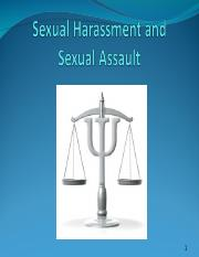 4Victims-SexualHarassment and Sexual AssaultS--Fall2016