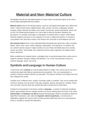 Material and Non