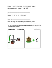 Math 3B   Lecture 1   Winter 2015   HW # 5