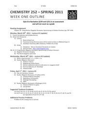 Week 1 Outline (update) NMP 252 SP11
