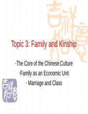 Topic 3 family and kinship