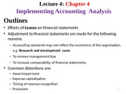 L4 - Implementing Accounting Analysis _Ch4_ 2015s2- Students-2