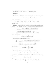 Math 354 Midterm Solutions
