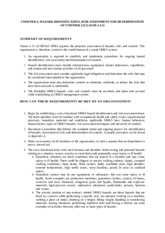 Ch4 - Hazard Identification, Risk Assessment and Determination of Controls (Clause 4.3.1) - 020116