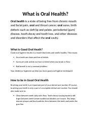 What is Oral Health.docx