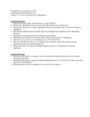 Learning Objectives-CH 13-Current Liabilities and Contingencies