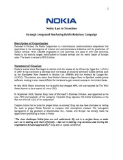 NOKIA+PR+program+plan