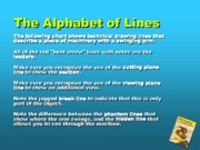 The Alphabet of Lines