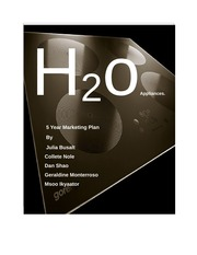 H20 appliances (marketing plan)