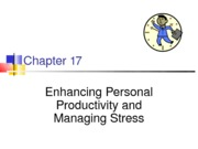 Chapter 17-Enhancing personal productivity and managing stress