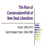 The Rise of Conservatism Lecture.ppt