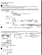 Exam 3 Solution Spring 2008 on Mechanics of Materials
