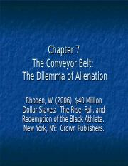 Chapter 7.  The Dilemma of Alienation.ppt