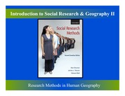 Introduction to Social Research and Geography Part Two