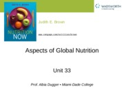 Ch 33 Global Nutrition