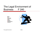 The Legal Environment of Business       F 140