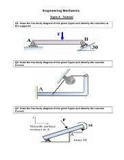 Tutorial_Topic-5_Supports and Free Body Diagram.docx