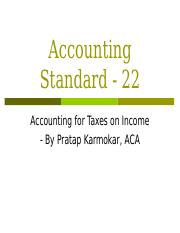 AccountingStandard-22.ppt