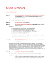 Music Seminar Schedule - Winter 2015 (1)