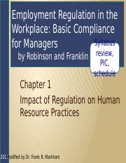 Employee Relations, Ch 01 Impact of Regulation, 2ed HO (4)