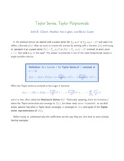 TaylorSeries